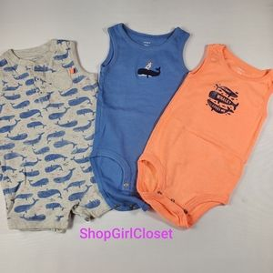 💥Just In💥 3pc Tank Top Onsies 12M Boys